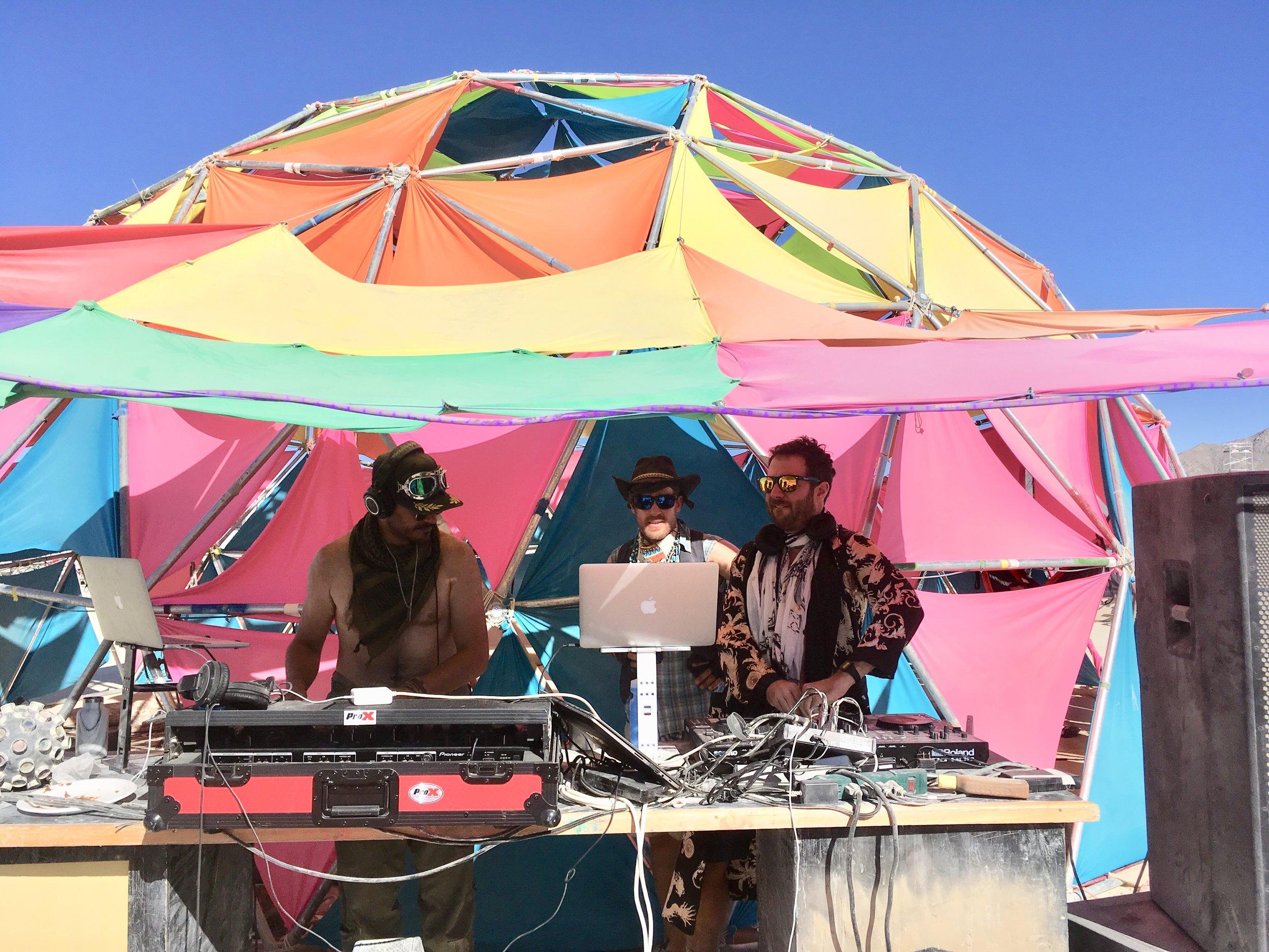 MJP performing at Burning Man 2019. Photo by Liz Poderski