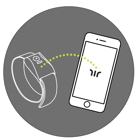 User pairs their new wayband wristband with the mobile app