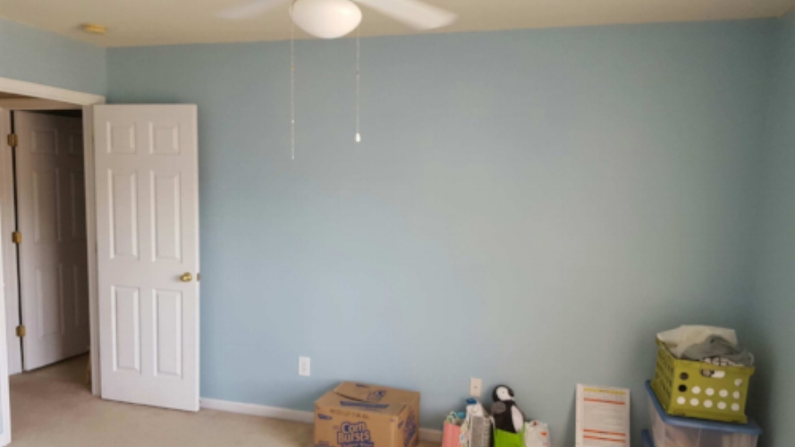 Baby Uno's room before.