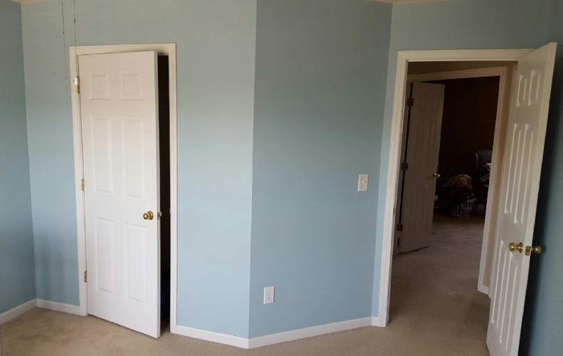 Baby blue walls for Baby Uno.