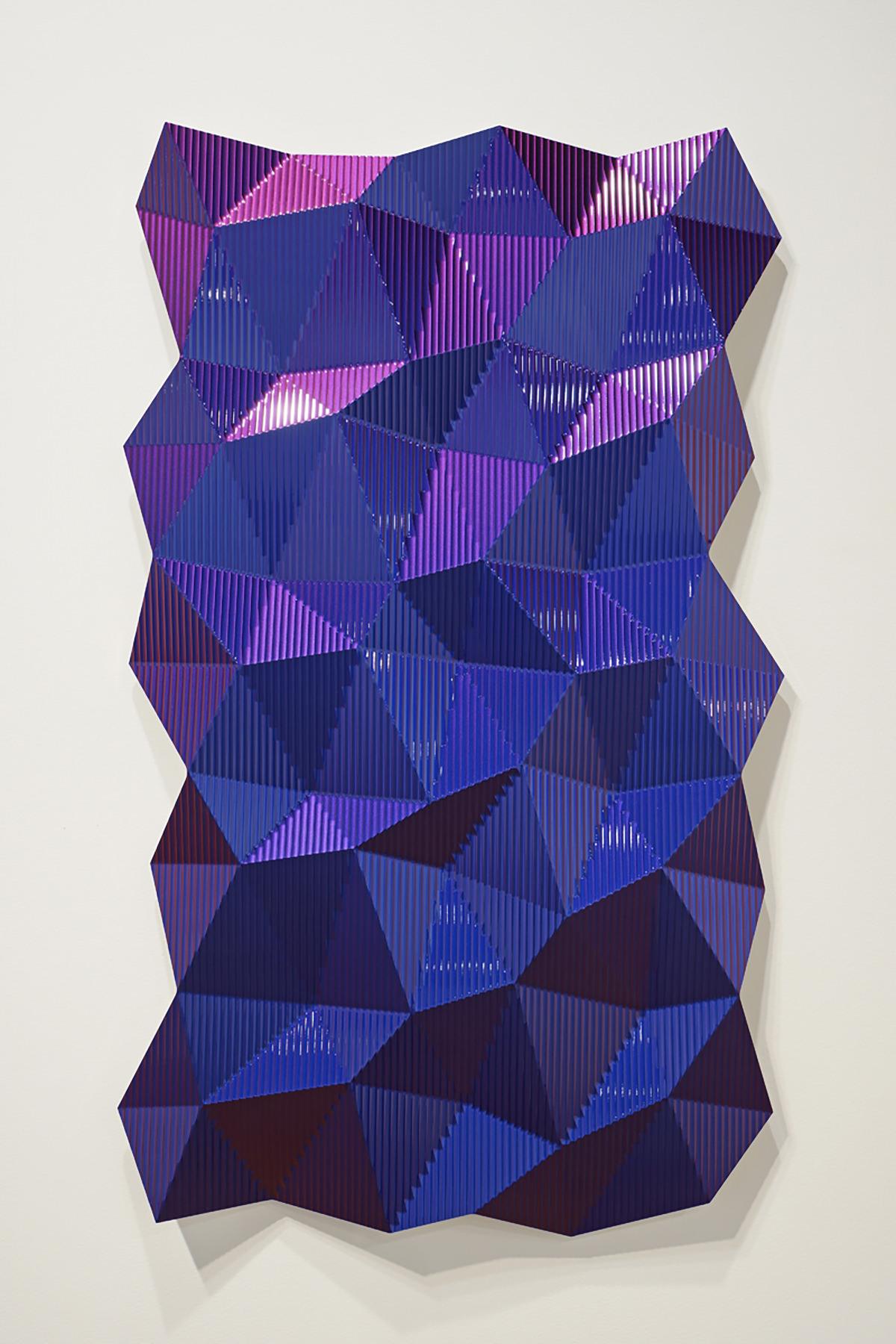 Hexagonal Perturbation- Blue/Red