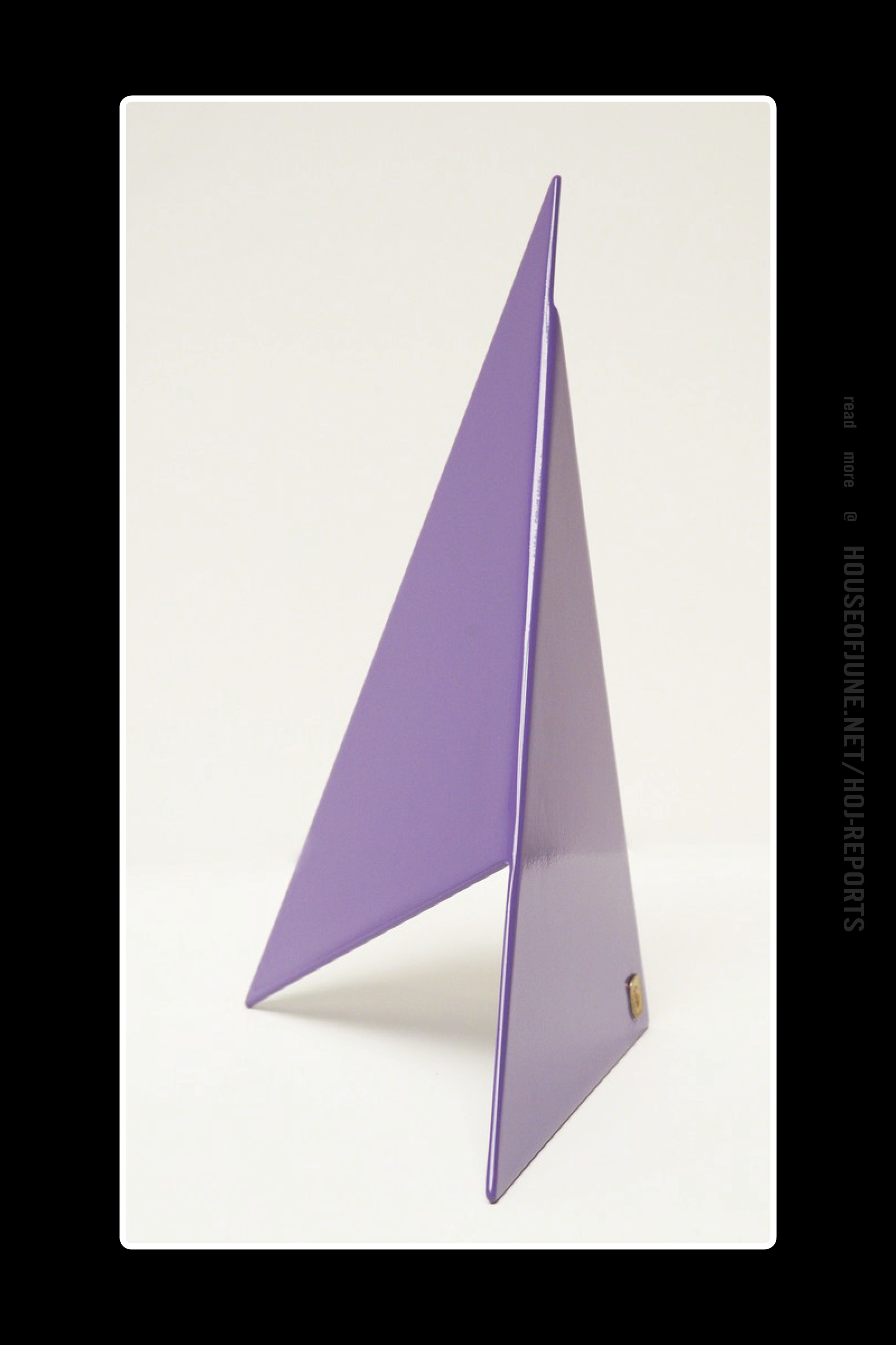 Betty Gold   (Welded Steel and Powder Coated)  Apex I (Purple), 2014