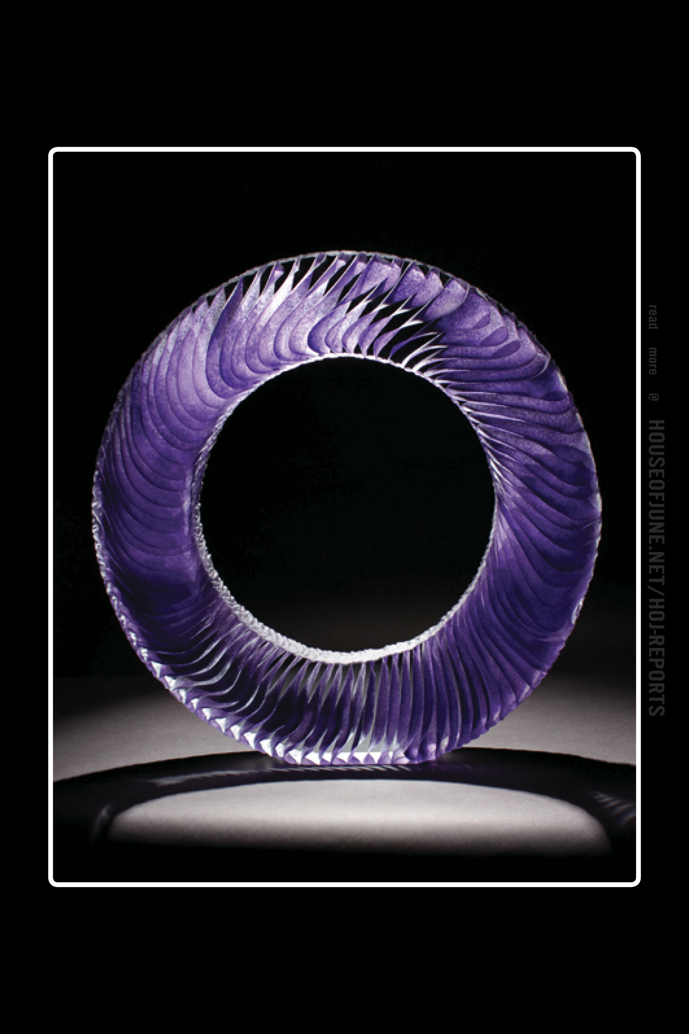 Colin Reid   (Kiln-cast and Polished Glass)  Colour Saturation: Purple Ring, 2016