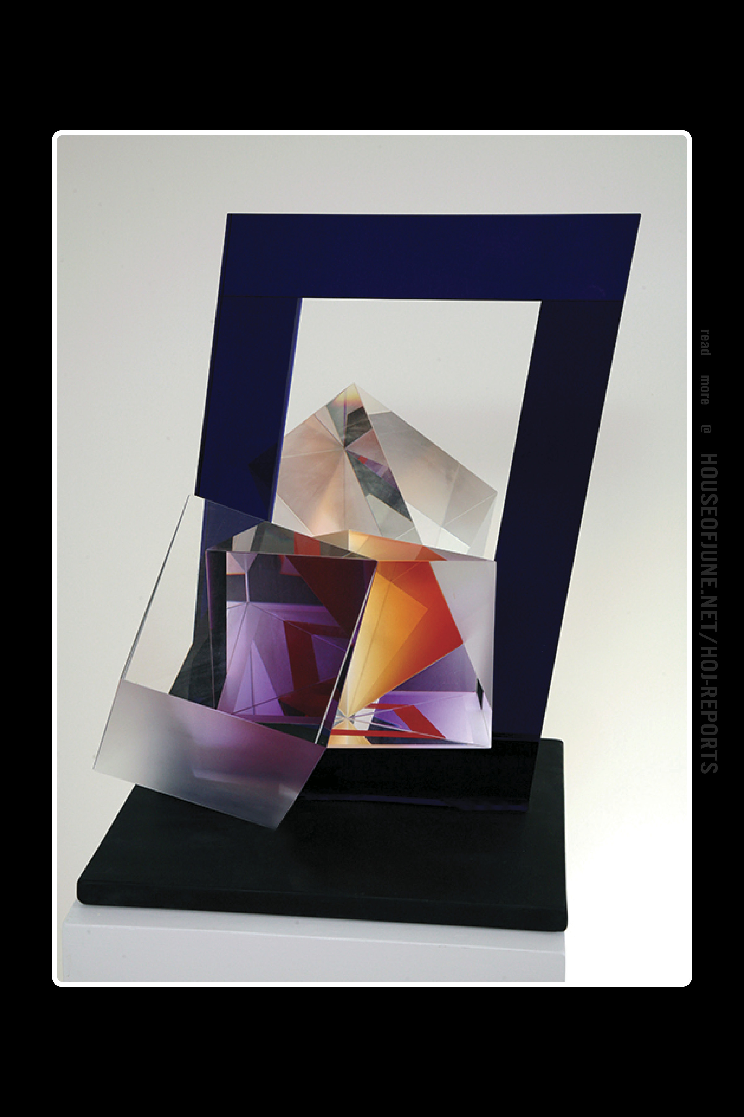 Michael Pavlik   (Glass)  Deconstructed Yellow With Purple, 1998