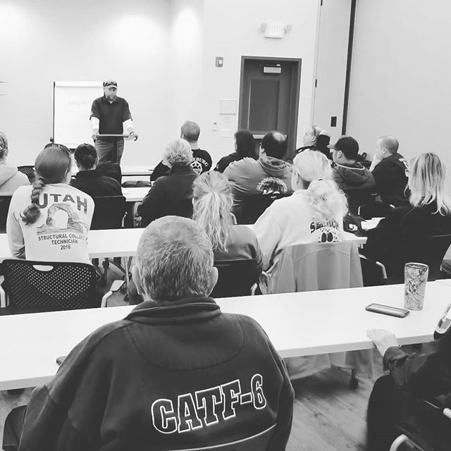 A full house for day 1 of our Superfit Canine Disaster K9 Workshop at the National Training Center in California!
