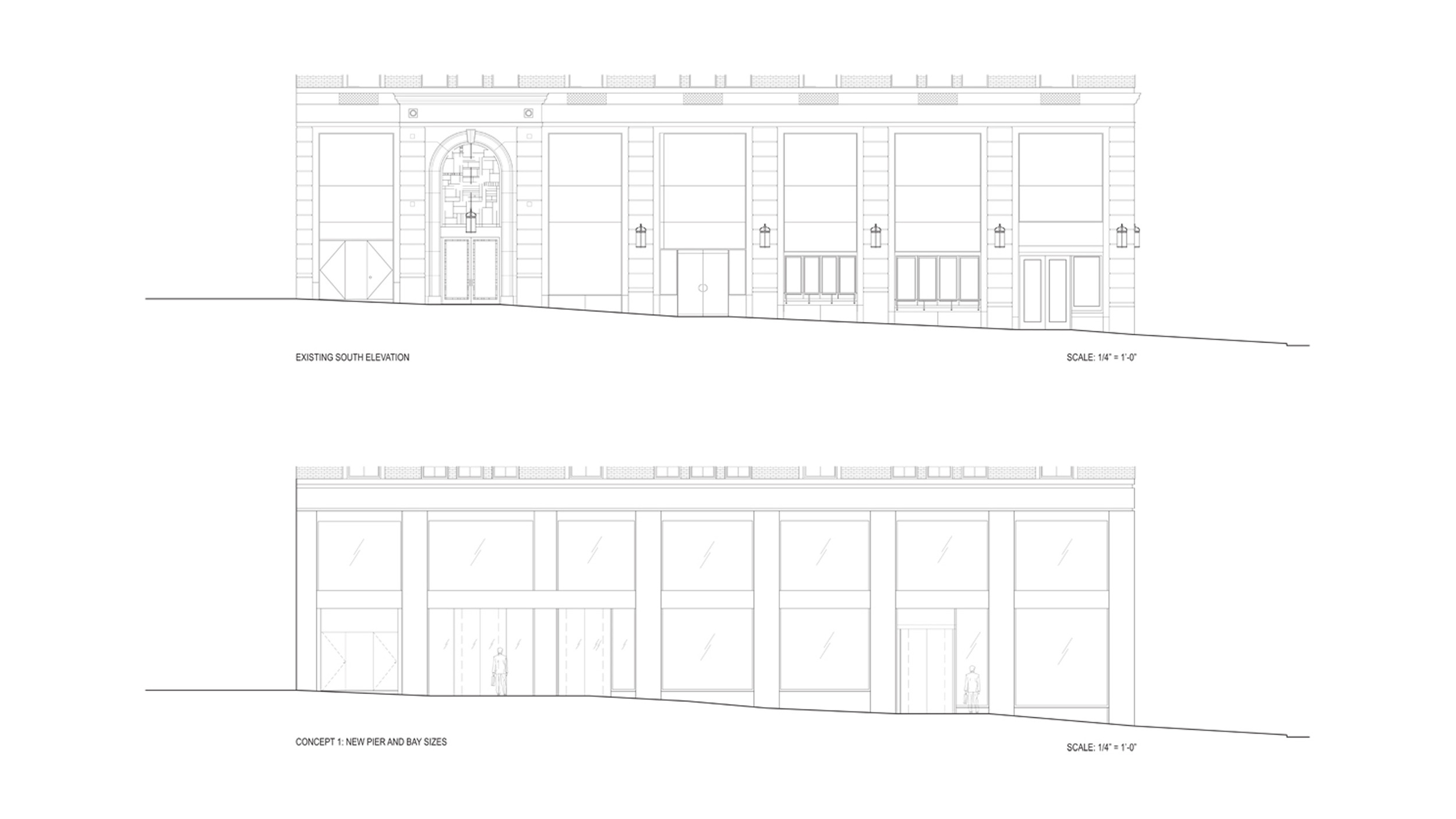 Street Level Facade Existing/Proposed