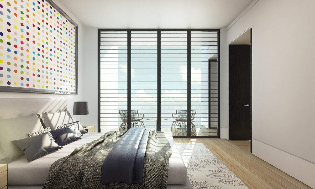 Bed Room with Balcony
