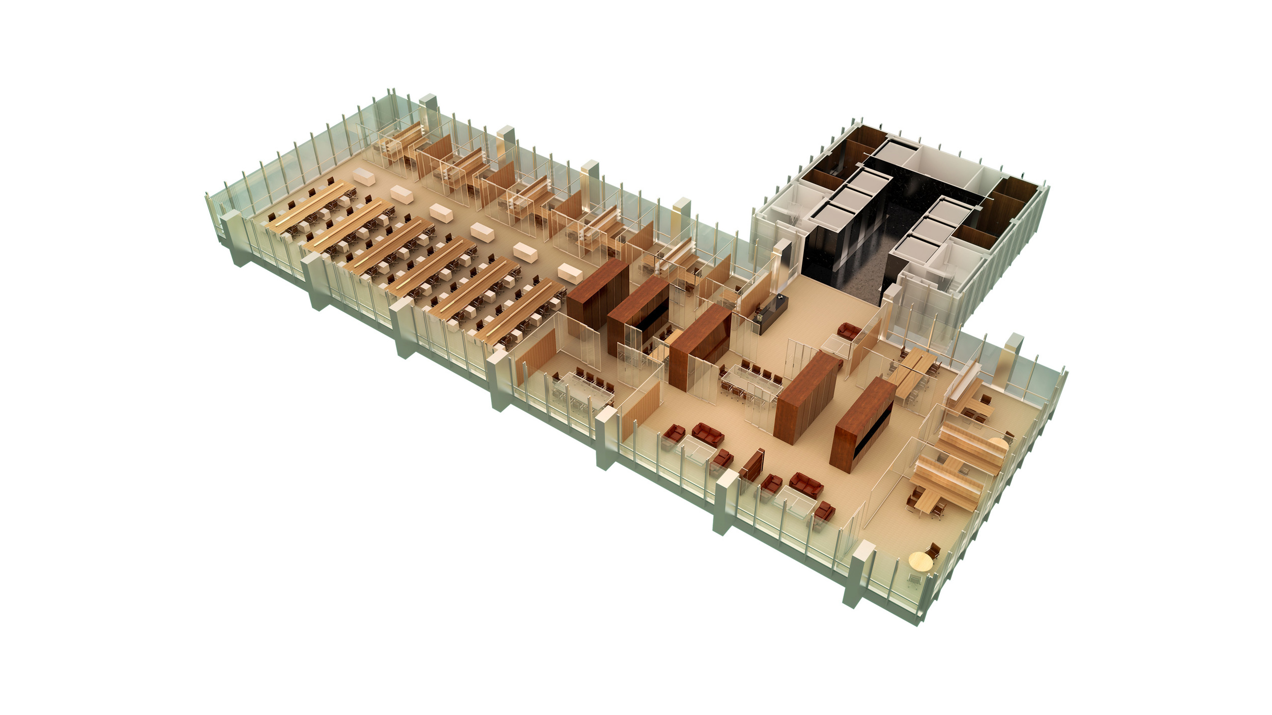 Axonometric Typical Floor Kit of Parts