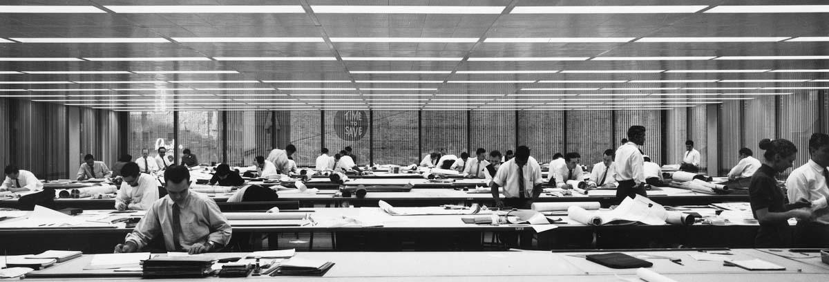 SOM's studio in the building 1962