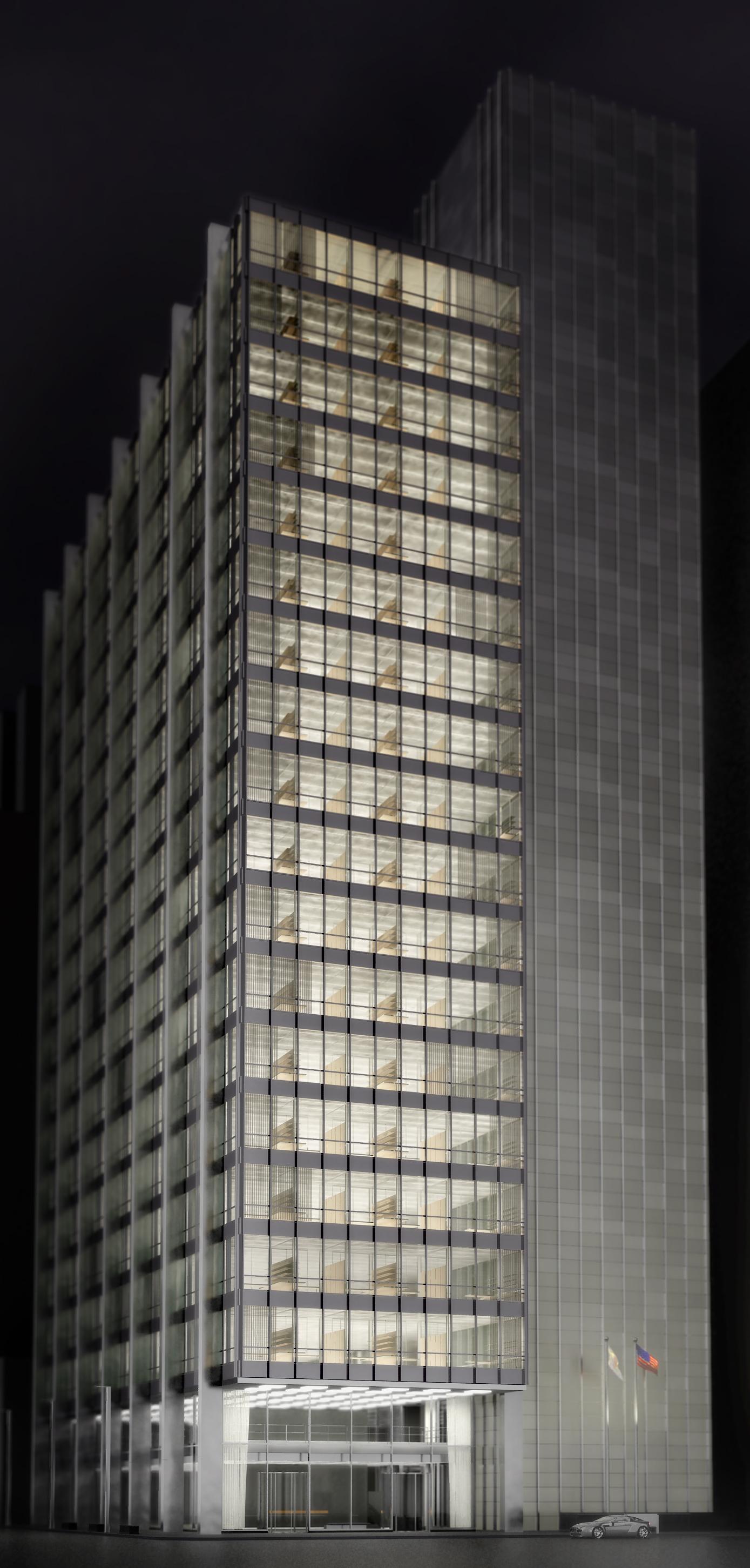 Exterior view Of facade improvements