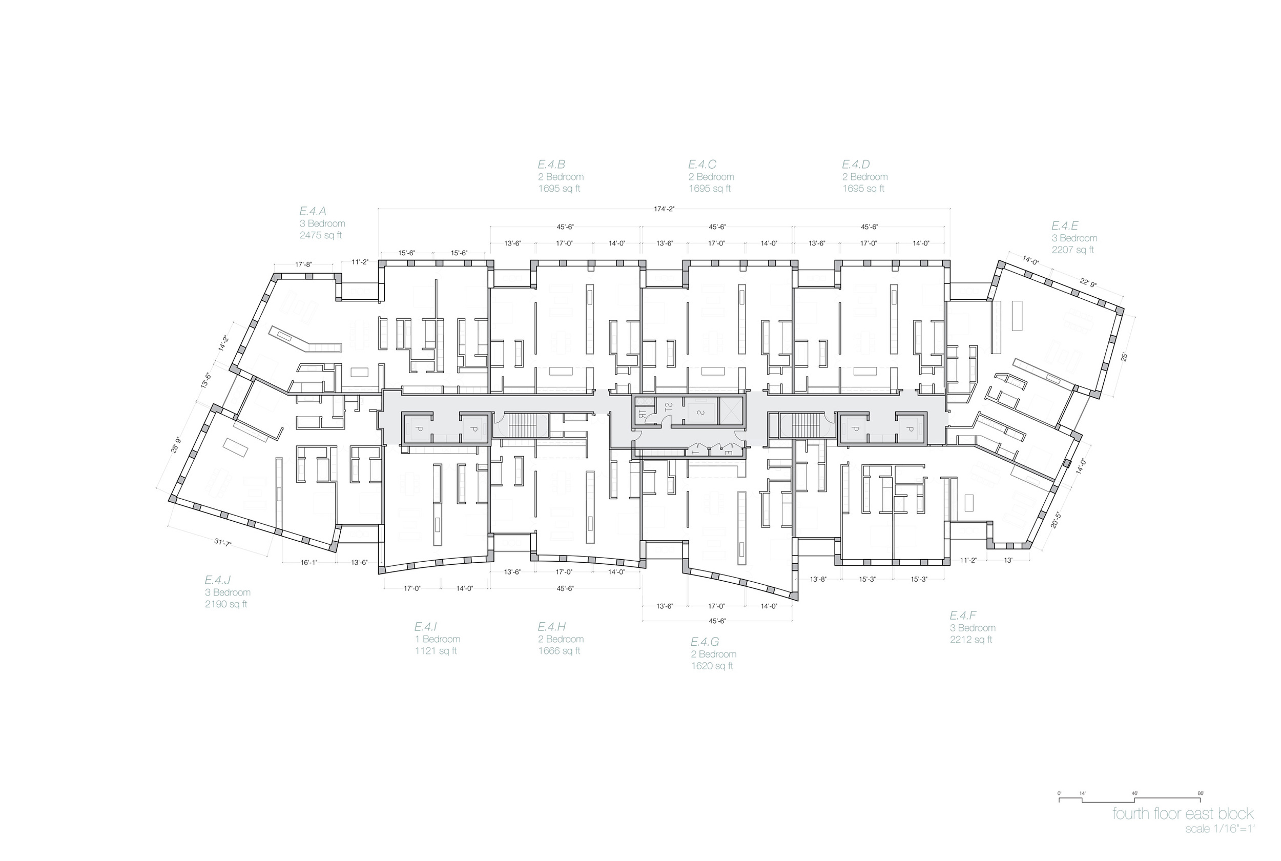 Typical Plan, East Building