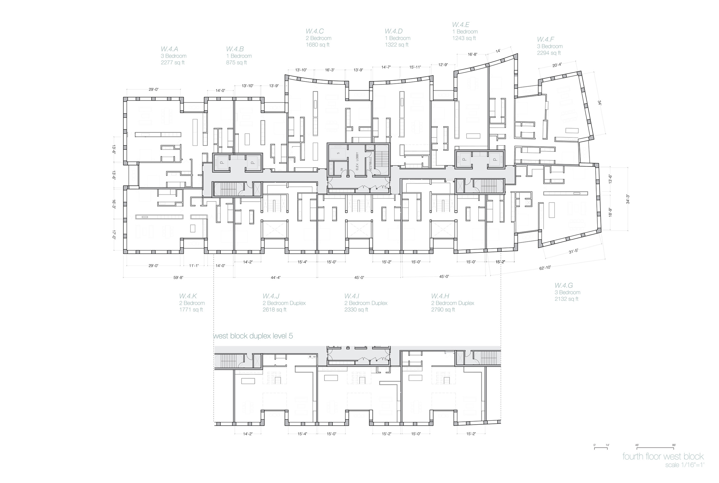 Typical Plan, West Building