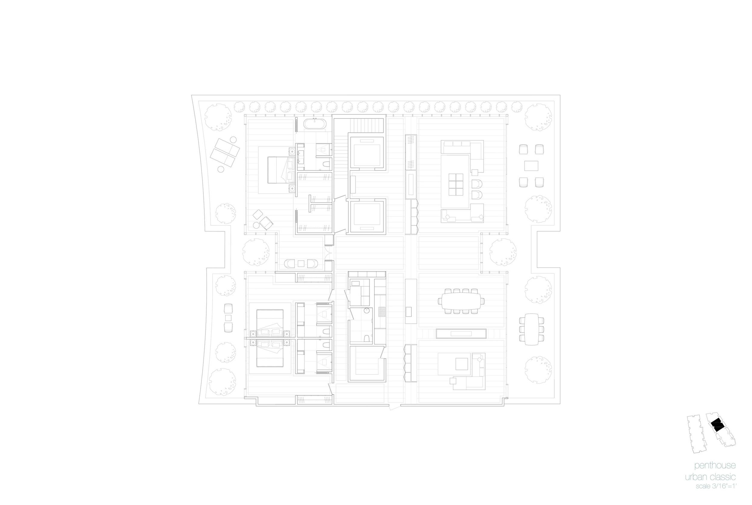 Plan, Penthouse Unit