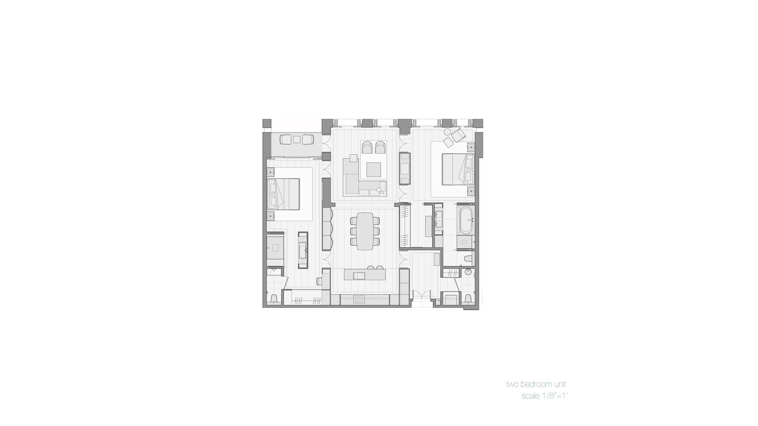 Plan, 2 Bedroom Unit
