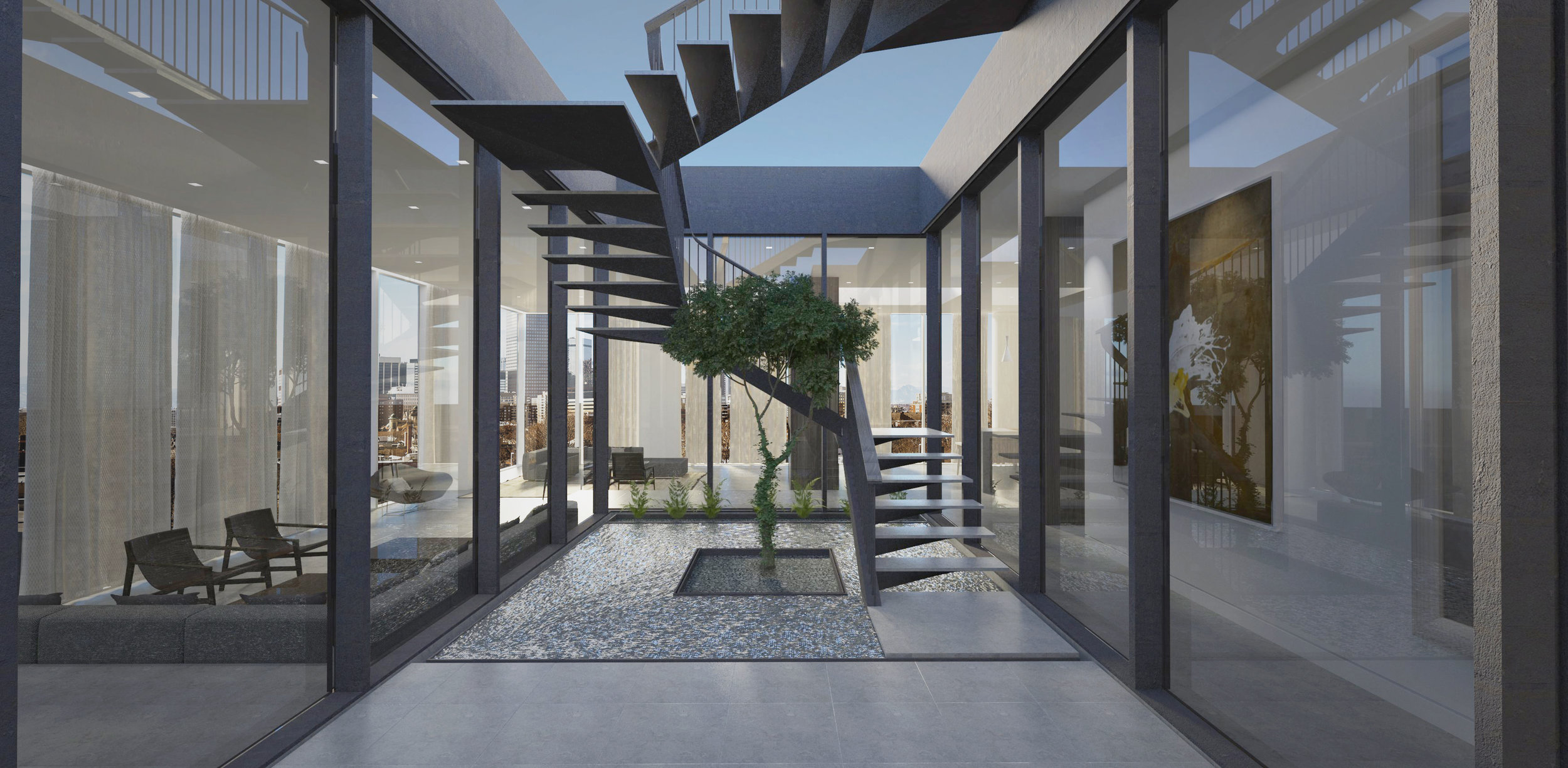 Penthouse Staircase