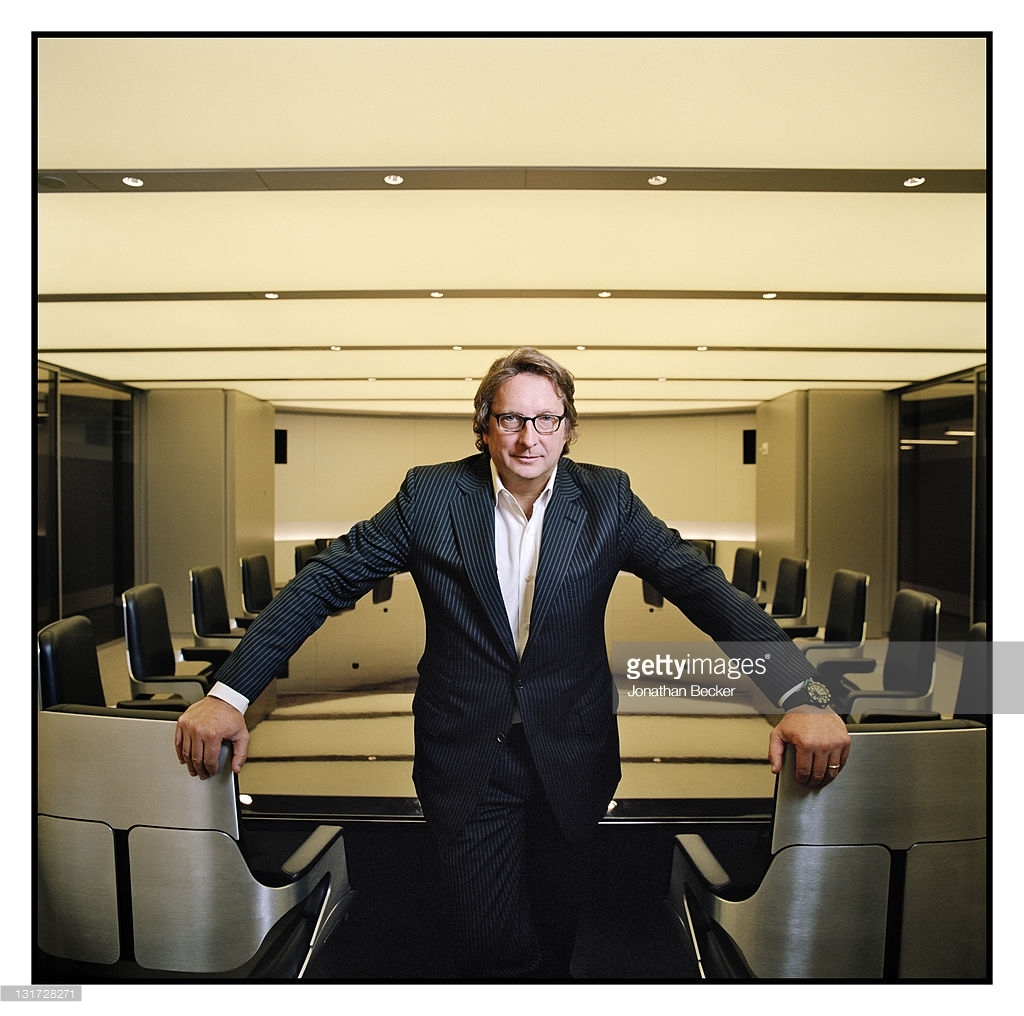 Hedge fund manager Philip Falcone is photographed in the conference room at Harbinger Capital for Vanity