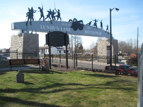 Lundy's Lane is now a major regional road in the municipality of Niagara Falls. A commemorative archway now spans the road.