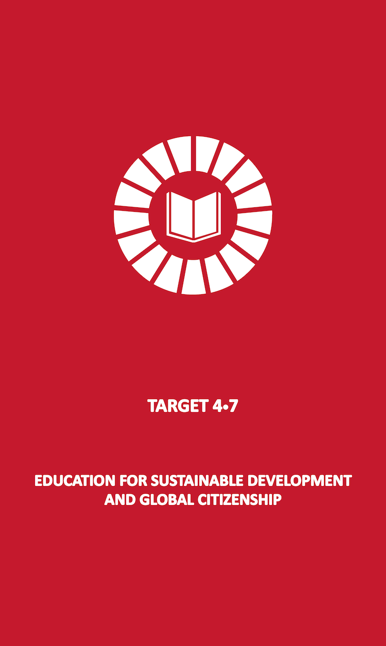 By 2030, ensure that all learners acquire the knowledge and skills needed to promote sustainable development, including, among others, through education for sustainable development and sustainable lifestyles, human rights, gender equality, promotion of a culture of peace and non-violence, global citizenship and appreciation of cultural diversity and of culture's contribution to sustainable development.