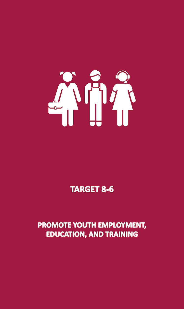 By 2020, substantially reduce the proportion of youth not in employment, education or training.