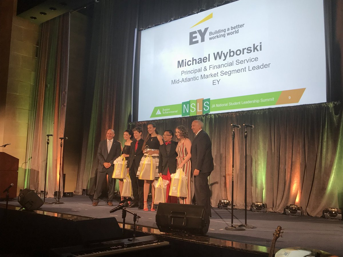 Defy Science from JA of Chisholm Trail won the EY Innovation Award.