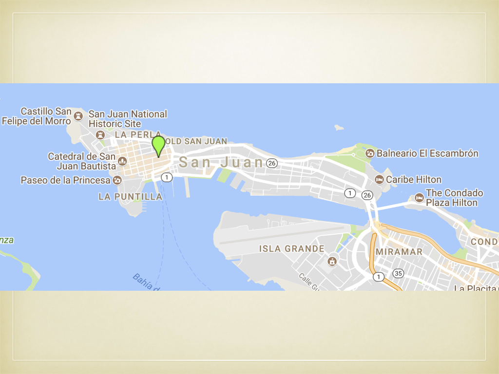 The PRPT began their trip in San Juan, lodging overnight in the Old San Juan district.