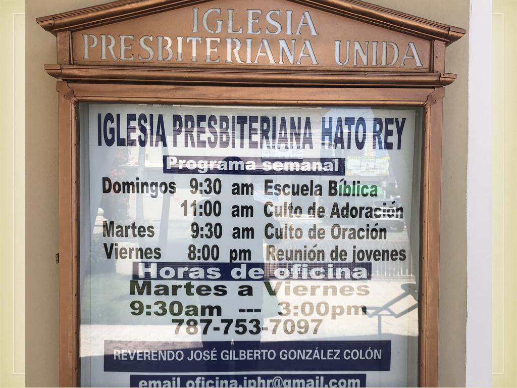 They began with a visit to the Presbyterian Church of Hato Rey, where Rev. José González-Colón is the pastor. José is also the moderator of the Sínodo de Boriquén.