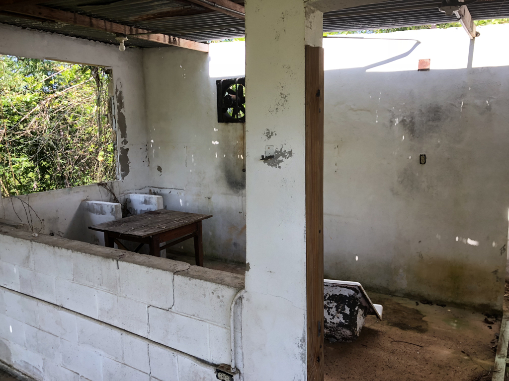 El Guacio hopes to renovate the kitchen quickly to enable the camp to host volunteer groups coming to the island to help with the recovery and rebuilding efforts.