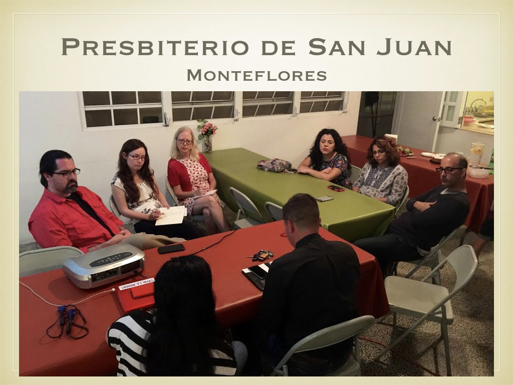 Leaders from the Presbiterio de San Juan told us about their efforts to host community events — with activities ranging from table fellowship, to providing gift cards for basic supplies (an ongoing need), and access to aid agencies — at each of the congregations in their presbytery through their Levántate y Resplendance (Rise & Shine) initiative. Anyone from the local community is invited to attend each event!