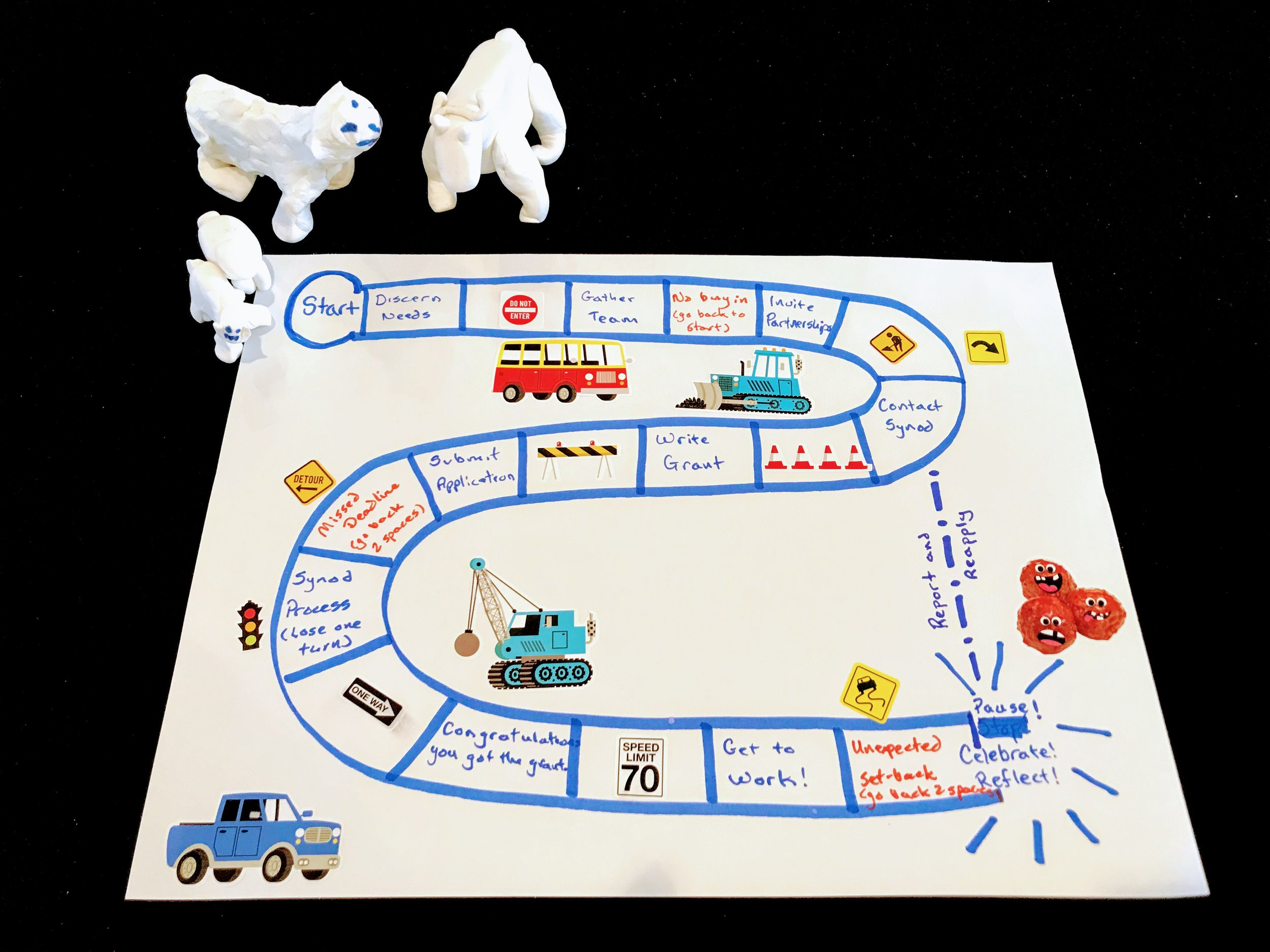 Mission Working Group (the game pieces are sheep and goats…)