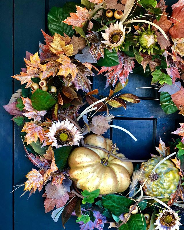 Welcome fall to your door with a new wreath created by our in-house designer, Laurel!