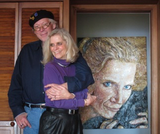 Photo by Terry Lorant, painting of Karin by Michael