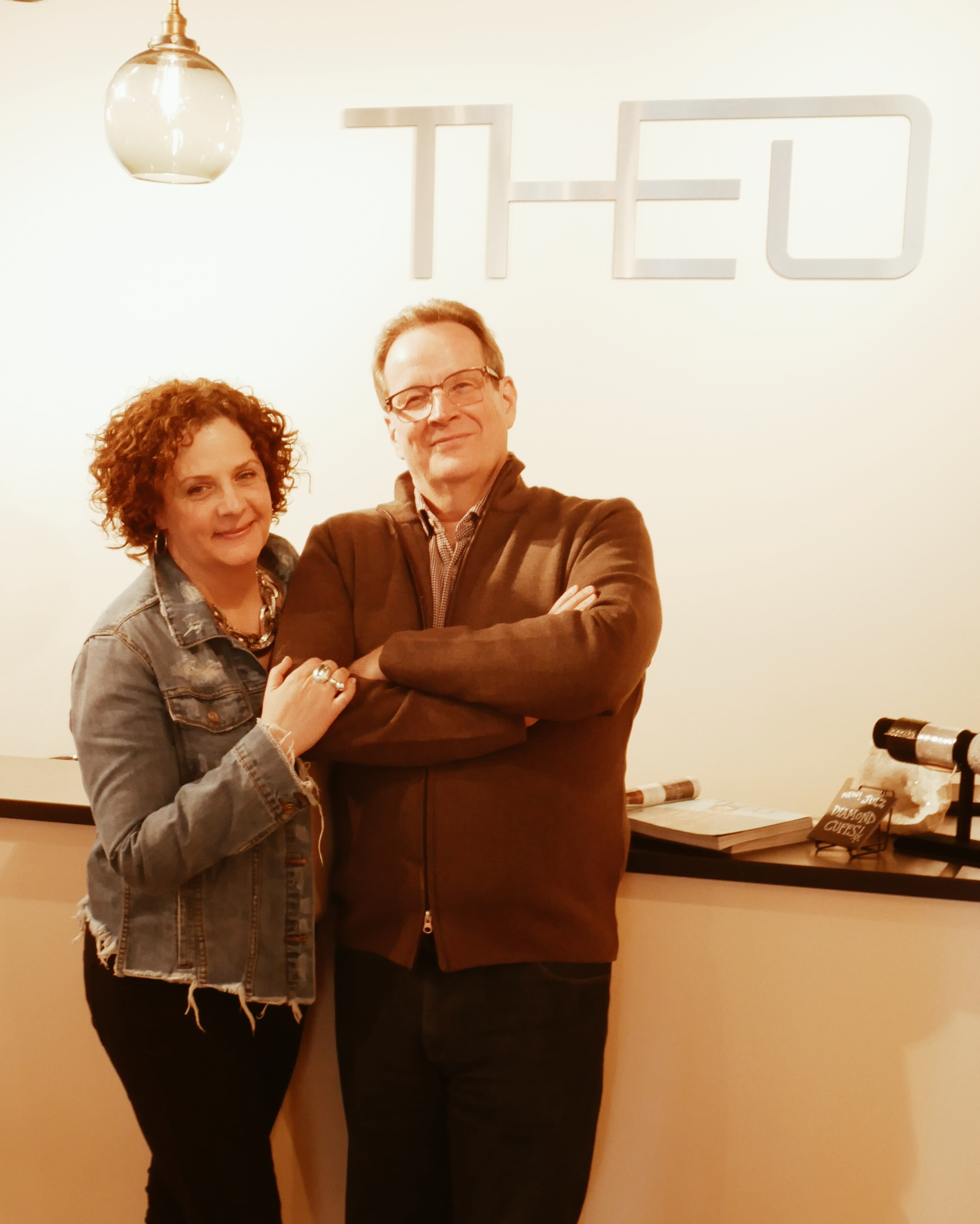 THEO's Creative Director, Tamara Lynas along with Owner & Buyer, Alexander Meder.