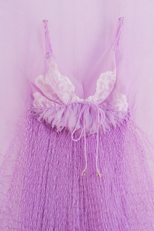 Dissolved nightie in lilac  (detail), 2018.