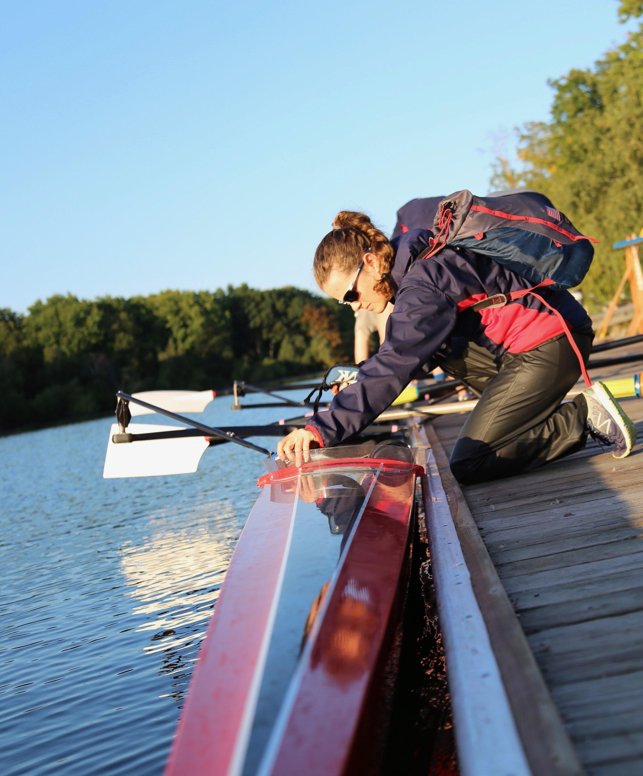 Jenny Sichel on the CRI dock