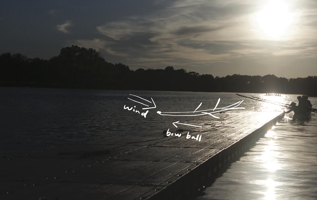 Adjust for wind when docking.