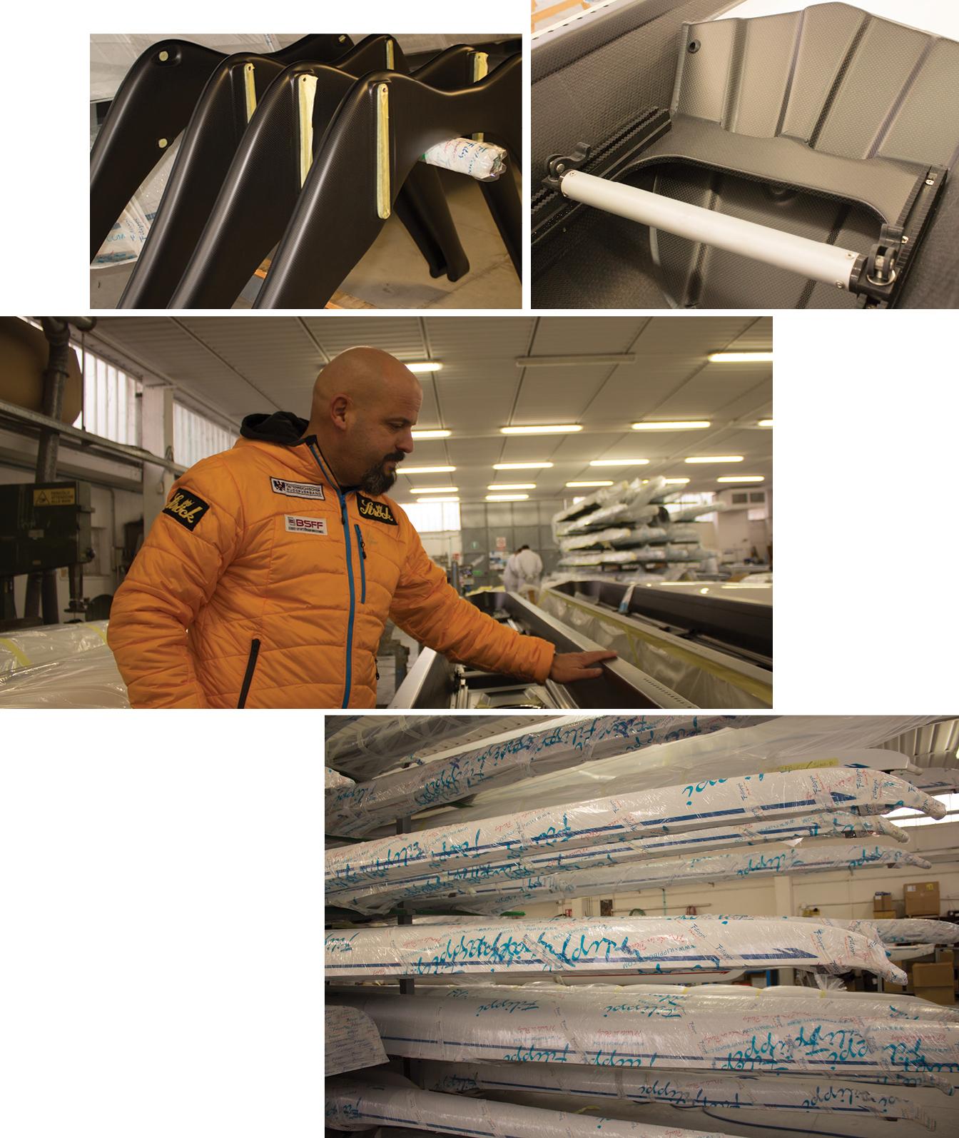 David Filippi in the factory in Donaratico, Italy