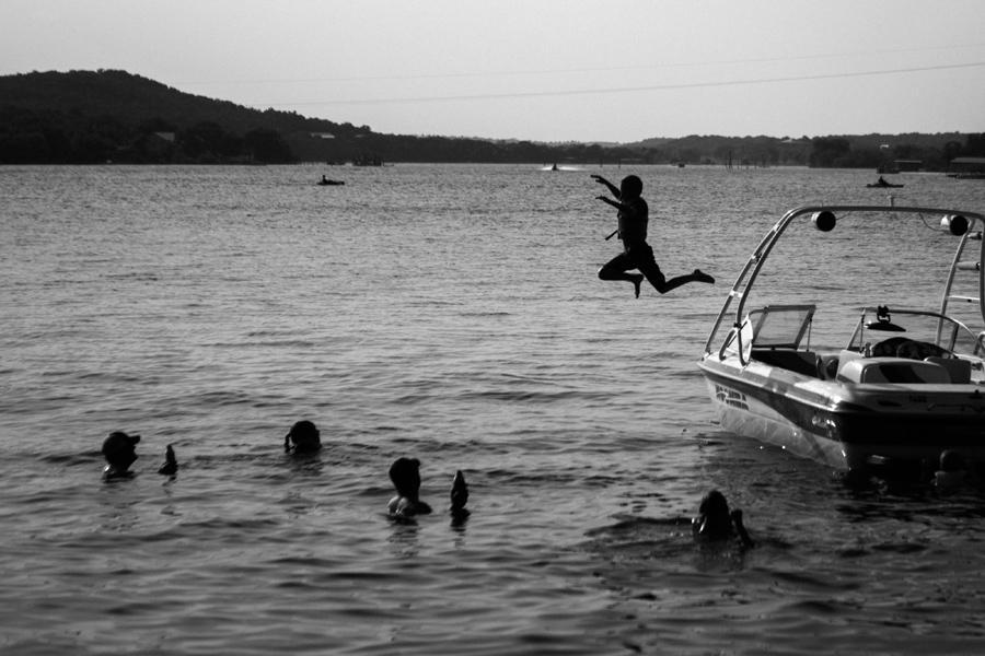 July 3: Beers in the water and endless jumping off the boat.