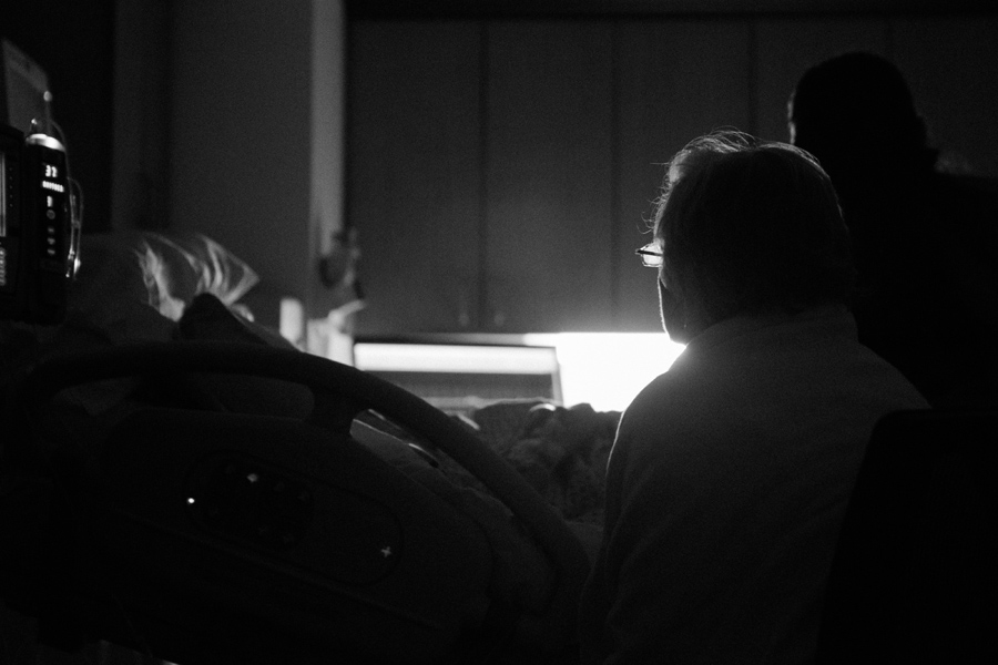 July 11: Mom sitting at my sister's bedside almost 24 hours into her labor. We thought we'd meet Jameson on the 11th, but that wasn't to be. I love this photograph, as it tells so much about the way my mom loves.