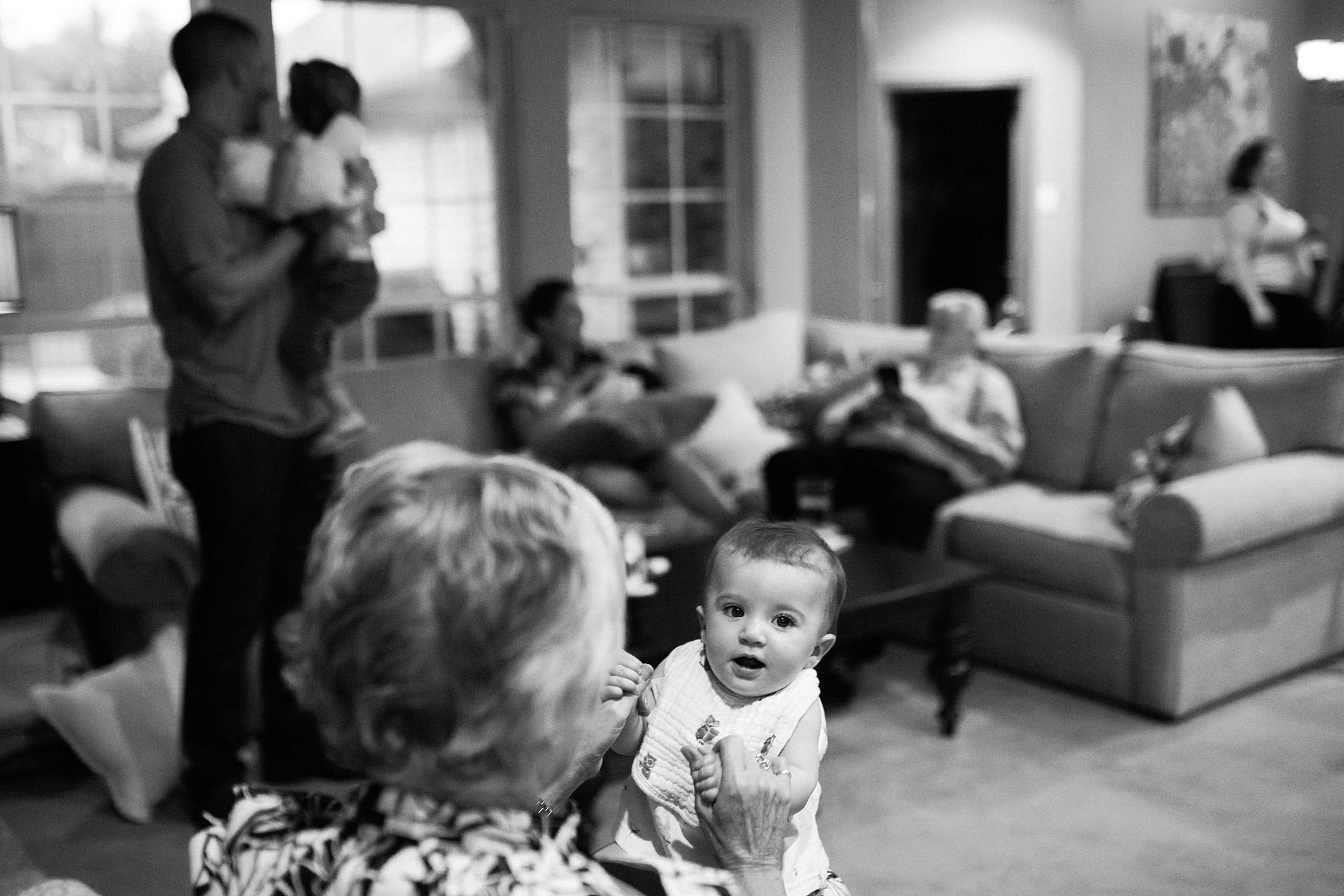 August 12: Family gatherings mean Rosie and Nana Joanie hangs.
