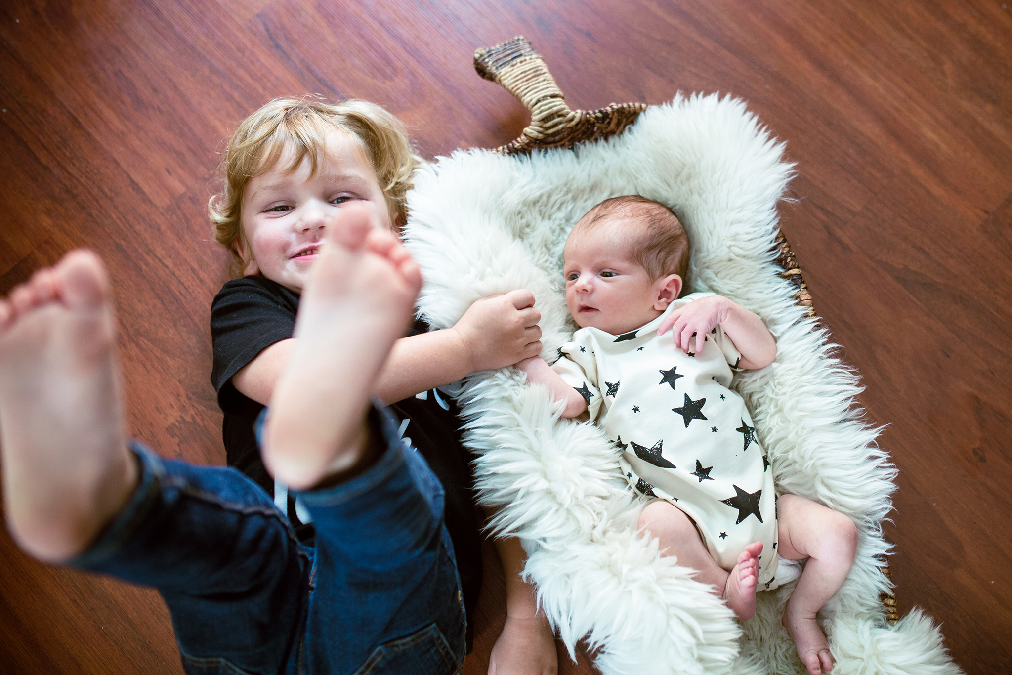 October 6: I got to do newborn photos for my friends James and Devon's second son. This was my favorite image. Is there anything better than brothers who are buddies from the get-go?