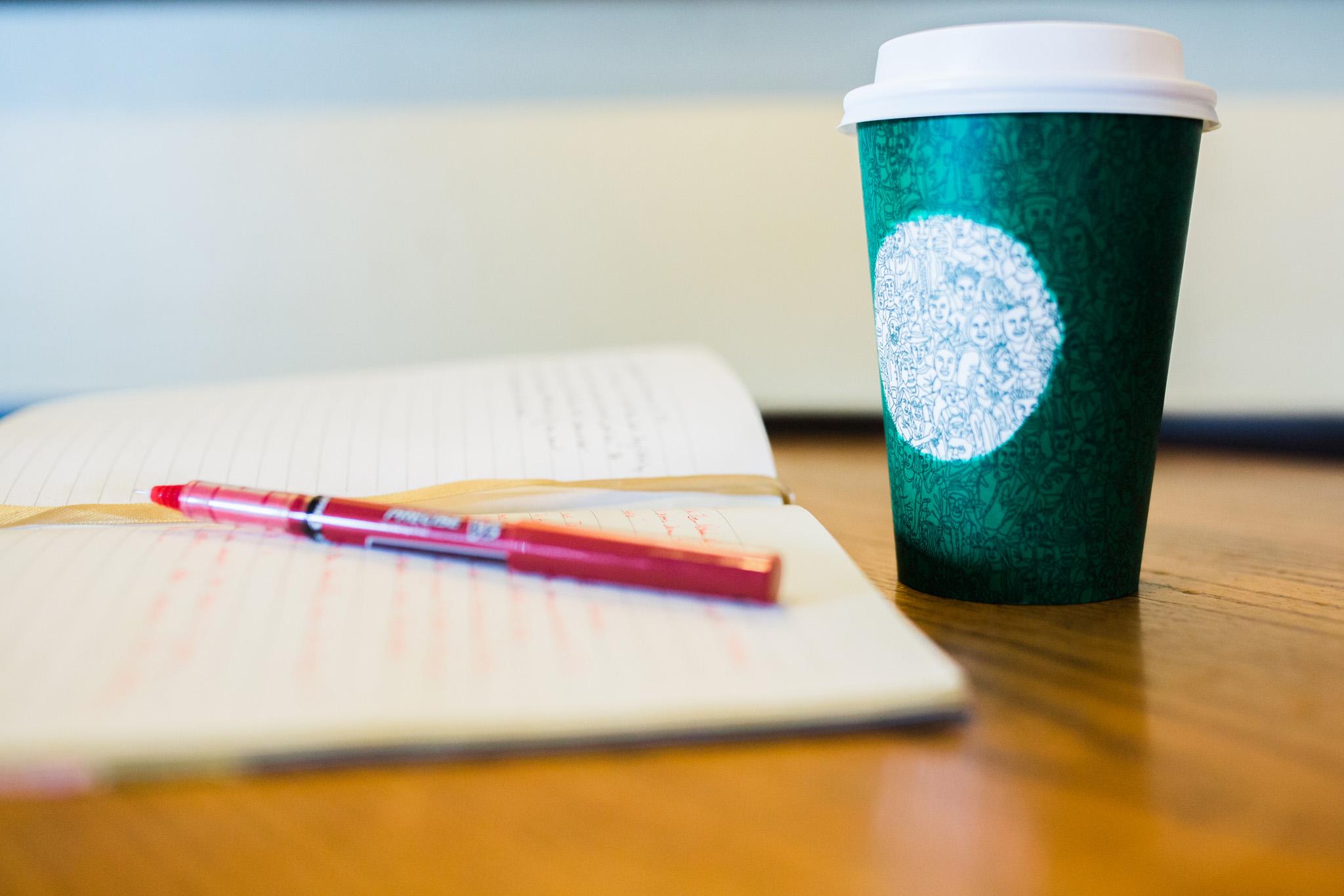 November 2: Coffee + Journal.
