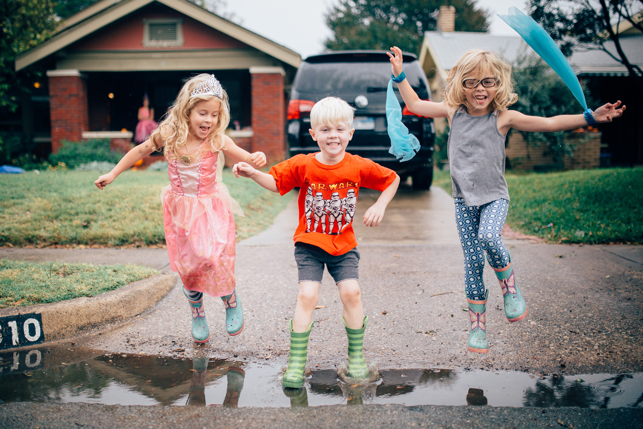 November 6: Rained out of photo shoots and rained into hanging out with the triplets!