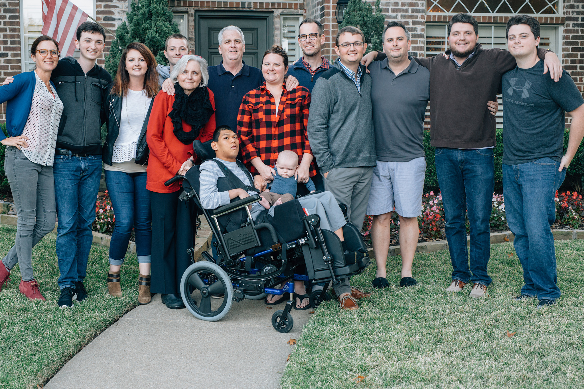 November 25: Thanksgiving Friday tripod shot of the Blinn crew this year. Small-ish group for us. Super-sized family much?
