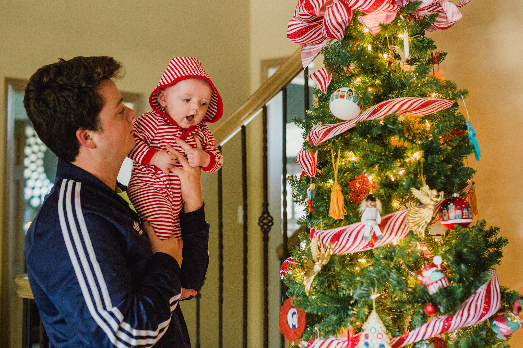 November 26: Supermanny Josh introduces Jameson to the most wonderful time of the year.