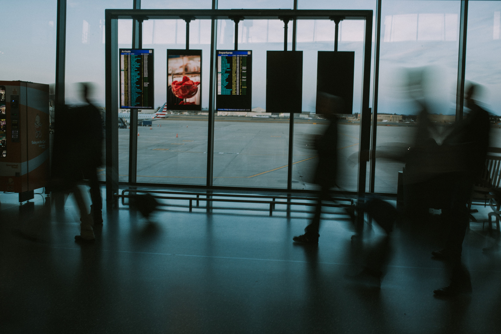January 13: Bradley International Airport on a Friday night.