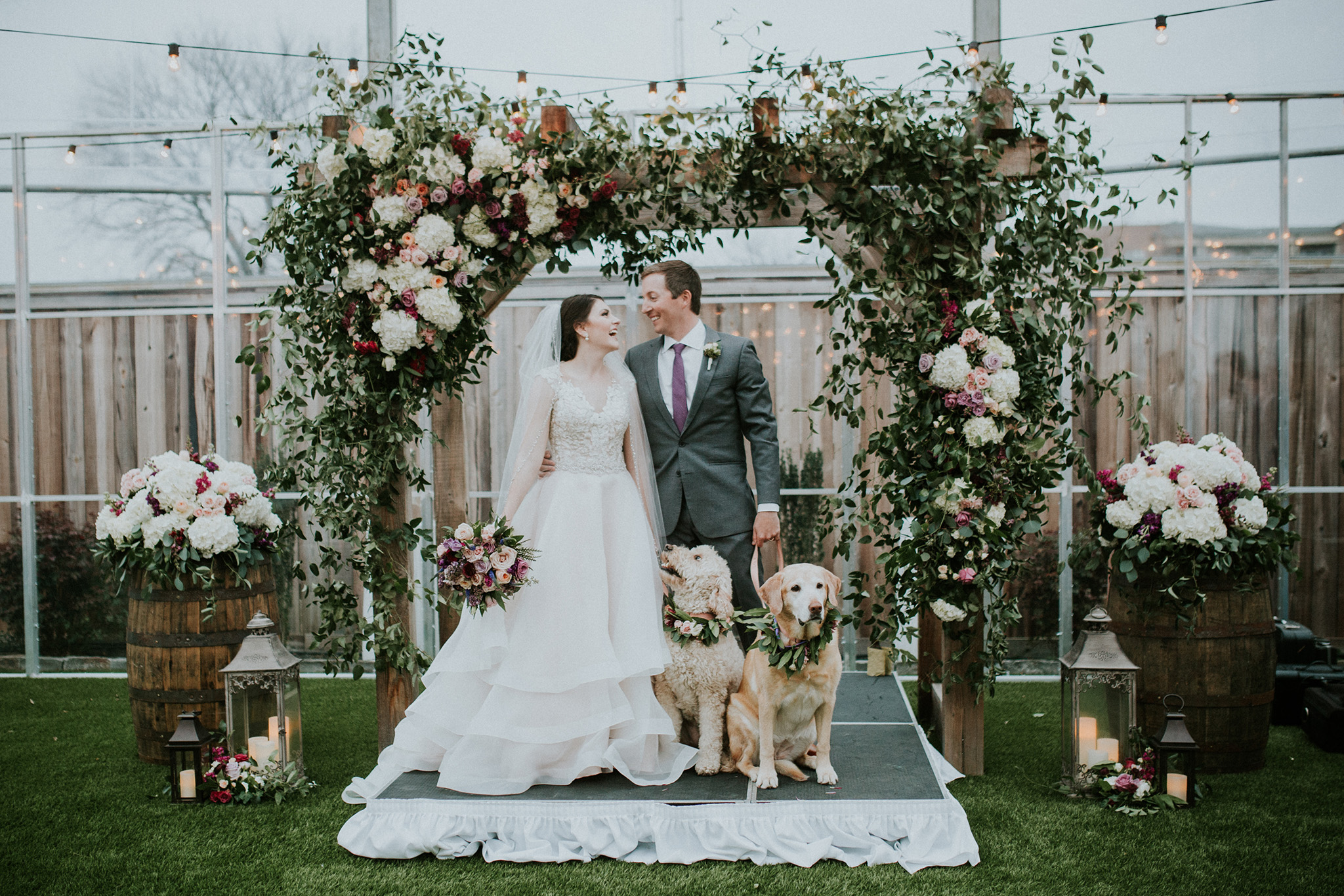 March 4: Wedding-ing has gone to the dogs on the rainiest, loveliest day.