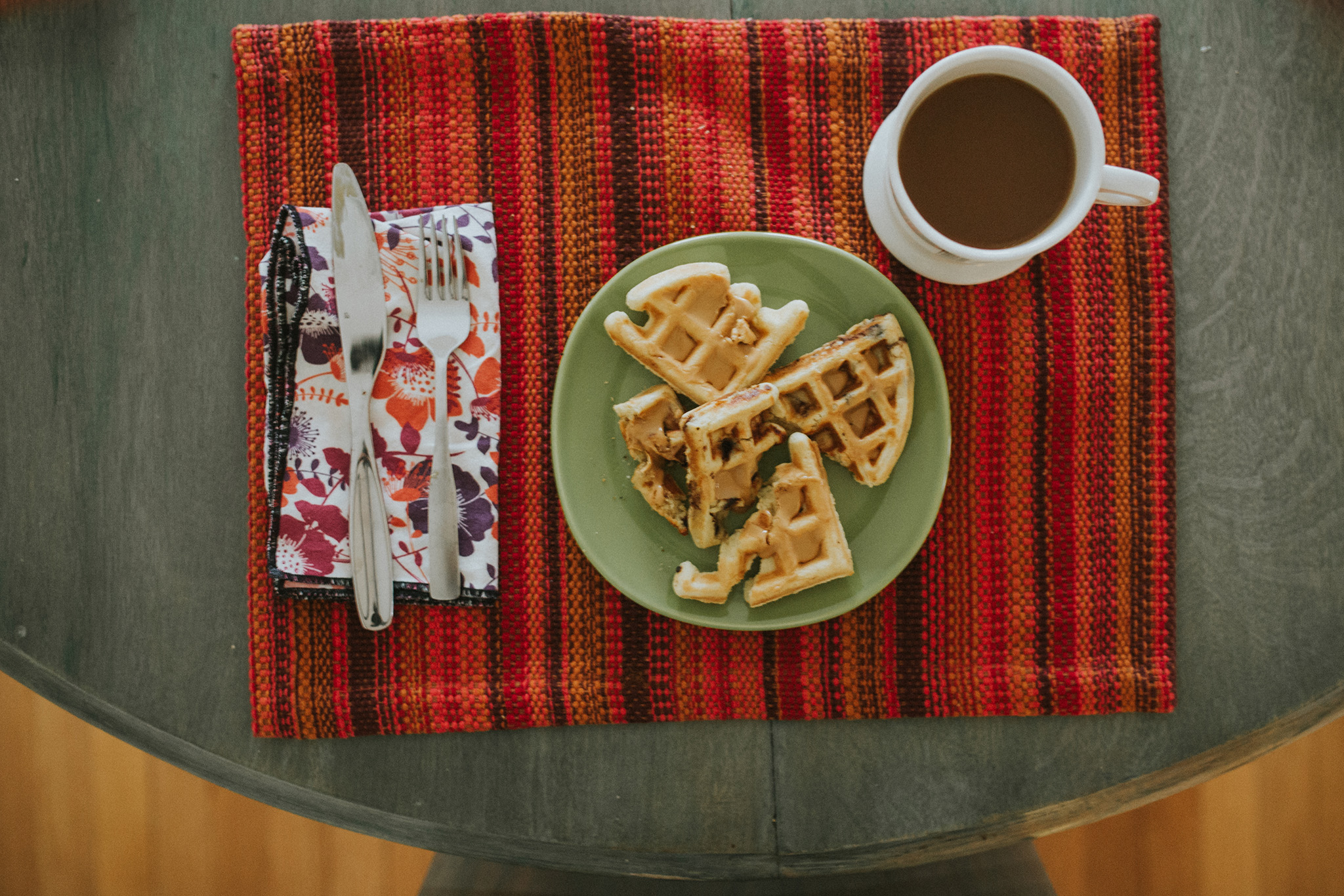 April 20: Waffles are my self-care language. It's a thing.