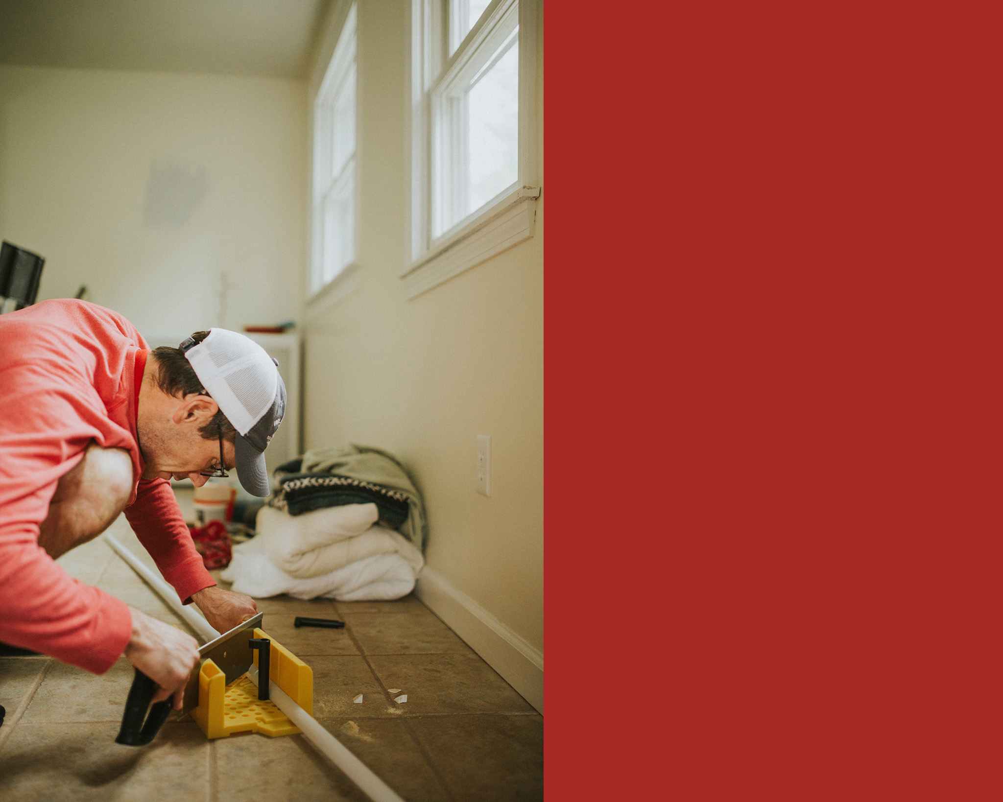 """April 30: When I refer to """"Erin and Ty's DIY,"""" it mostly means Ty. He ain't perfect, but he is decidedly a worker bee. He works with a steady attentiveness that I admire."""