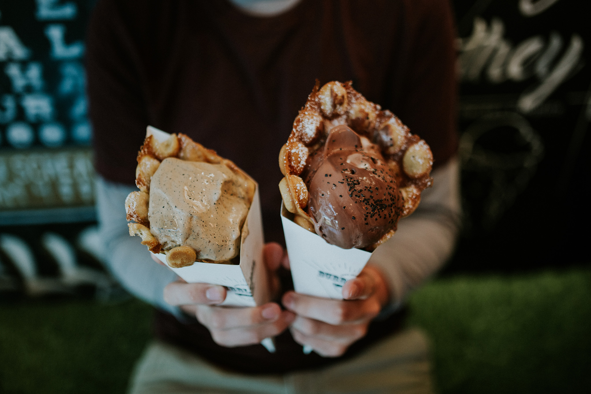 August 23: Milkcraft. Liquid nitrogen ice cream, made to order, served in waffle cones- literal, soft, bubbly and warm waffles. It is heaven for the lactose and gluten tolerant.