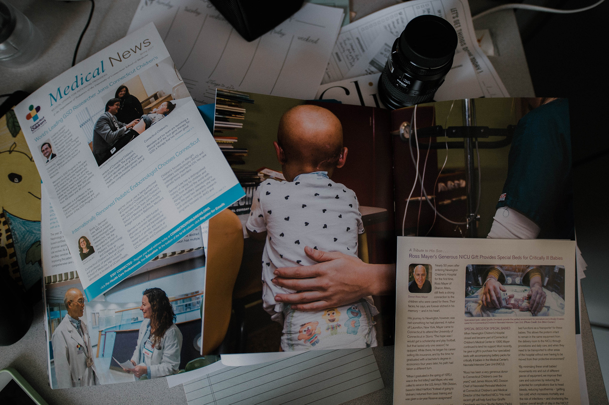 September 5: Seeing my photos in print for the hospital both challenges and inspires me.